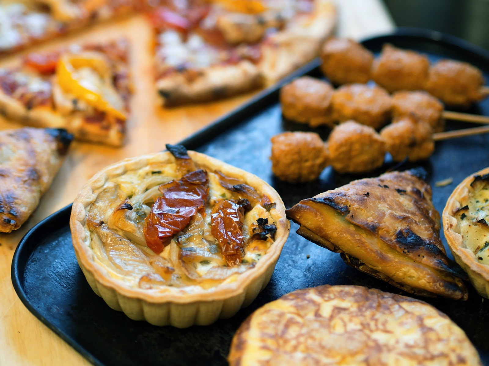 Quiches, Pasta and Salads